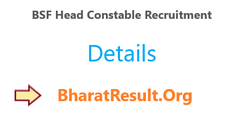 BSF Head Constable Recruitment 2020 : 10th Pass Apply Now