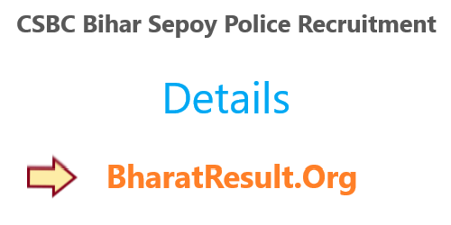 CSBC Bihar Sepoy Police Recruitment 2020 : 12th Pass Apply Now