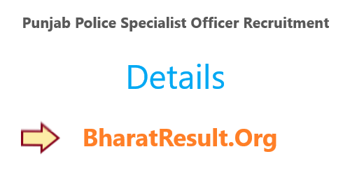 Punjab Police Specialist Officer Recruitment 2020 : 797 Vacancies