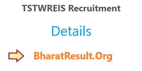 TSTWREIS Recruitment 2020 : 12th Pass Apply Now