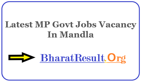 Latest MP Govt Jobs Vacancy In Mandla| Apply Online MP Job