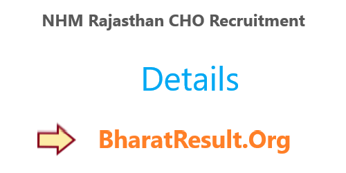 NHM Rajasthan CHO Recruitment 2020 : 6310 Vacancies