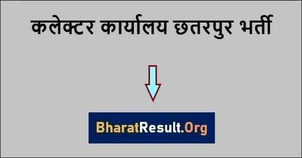 कलेक्टर कार्यालय छतरपुर भर्ती 2021 | Collector Office Chhatarpur Recruitment 2021