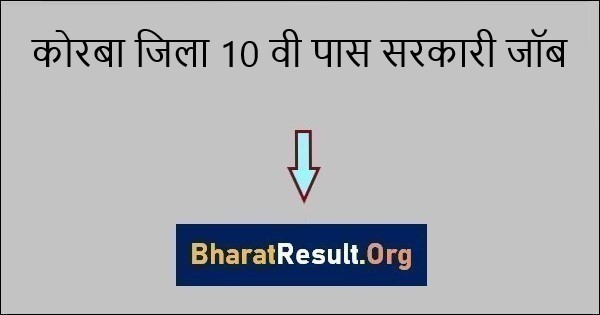 Korba Jila 10th Pass Sarkari Job 2021 | कोरबा में नौकरी