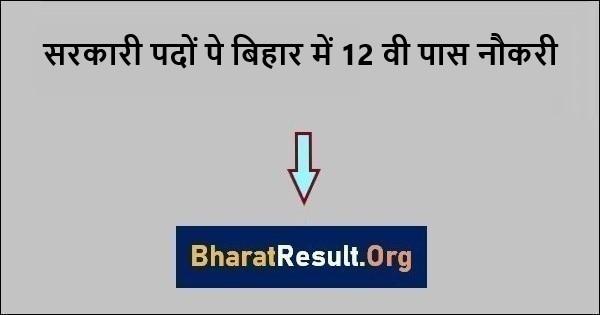 सरकारी पदों पे बिहार में 12 वी पास नौकरी 2021 | Bihar me 12 vi pass Naukri