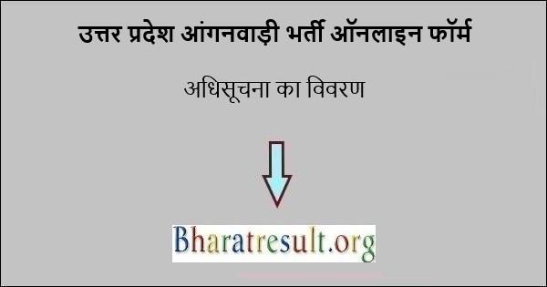 यूपी आंगनवाड़ी भर्ती 2021 ऑनलाइन फॉर्म 5300 वैकेंसी नोटिफिकेशन पीडीएफ | Anganwadi Bharti 2021 Uttar Pradesh Online Form